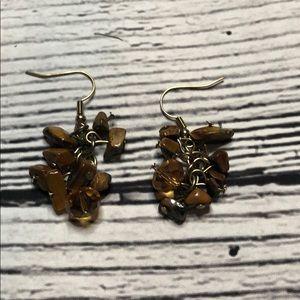 *6 for $30* Brown dangle earrings